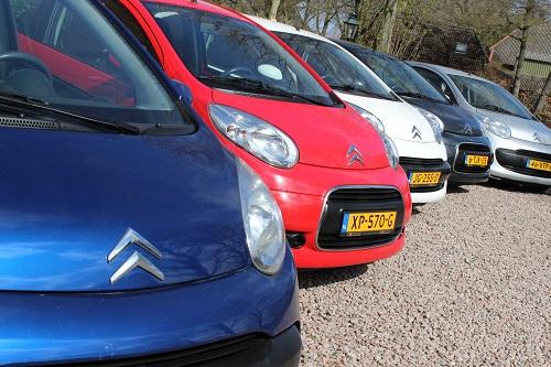 auto's op een rij